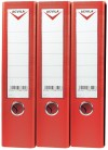 Lever arch files, PVC A4/FC LEVER ARCH FILE - 75 mm - red