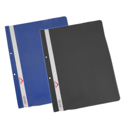 Protection pockets, flat files, plastic files, PLASTIC FOLDER WITH  FILING STRIP