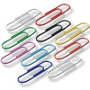 Paper clips, office pins, metal thumb tacks, COLORED PAPER CLIPS - 28 mm