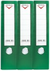 Lever arch files, PVC COATED A4/FC LEVER ARCH FILE - 75mm - green