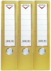 Lever arch files, PVC COATED A4/FC LEVER ARCH FILE - 75 mm - yellow